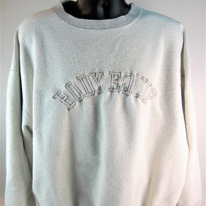 Two Heavy Body Equip Sweat Shirts White & Blue